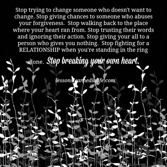 Http://lessonslearnedinlife.com/stop Breaking Your Own