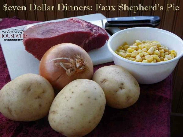 """Faux Shepherd's Pie Well it's going to be even more faux because I'll be using cauliflower mashed """"potatoes"""" instead of actual mashed potatoes."""