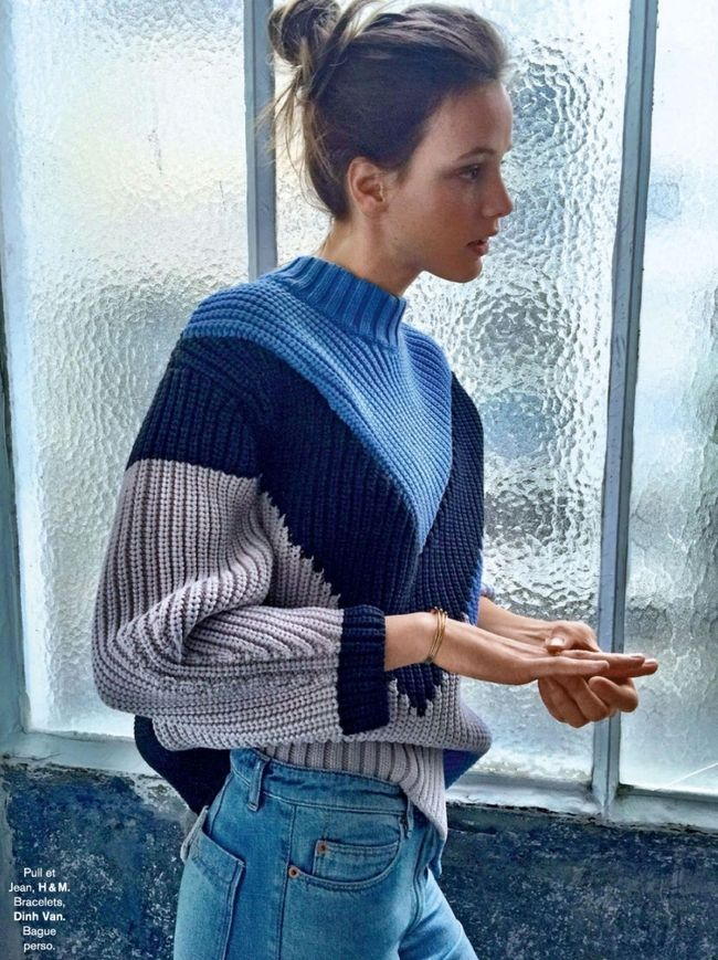 Une petite dose graphique sied bien aux gros pull-overs (pull H&M)