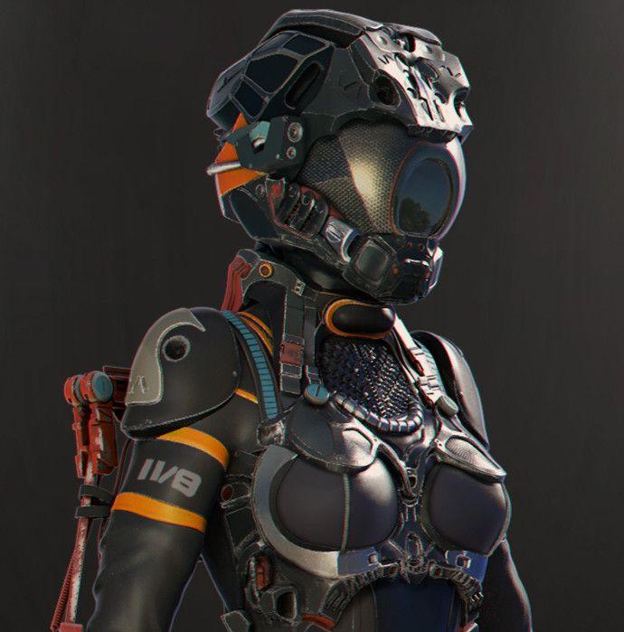 artstation space suit leonardo peralta cyberpunk