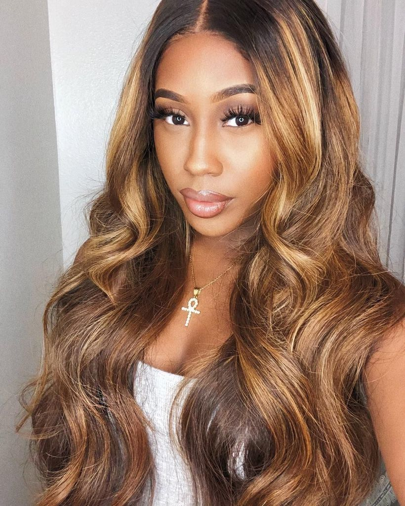 48 Brilliant Blonde Hairstyle Ideas For Brown Women Honey Brown Hair Light Brown Hair Blonde Hair Black Girls