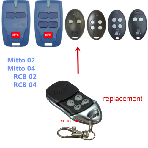 Bft Mitto 02 04 Rcb02 Rcb04 Remote Control Replacement 433mhz Rolling Code Garage Door Remote Control Remote Control Garage Door Remote