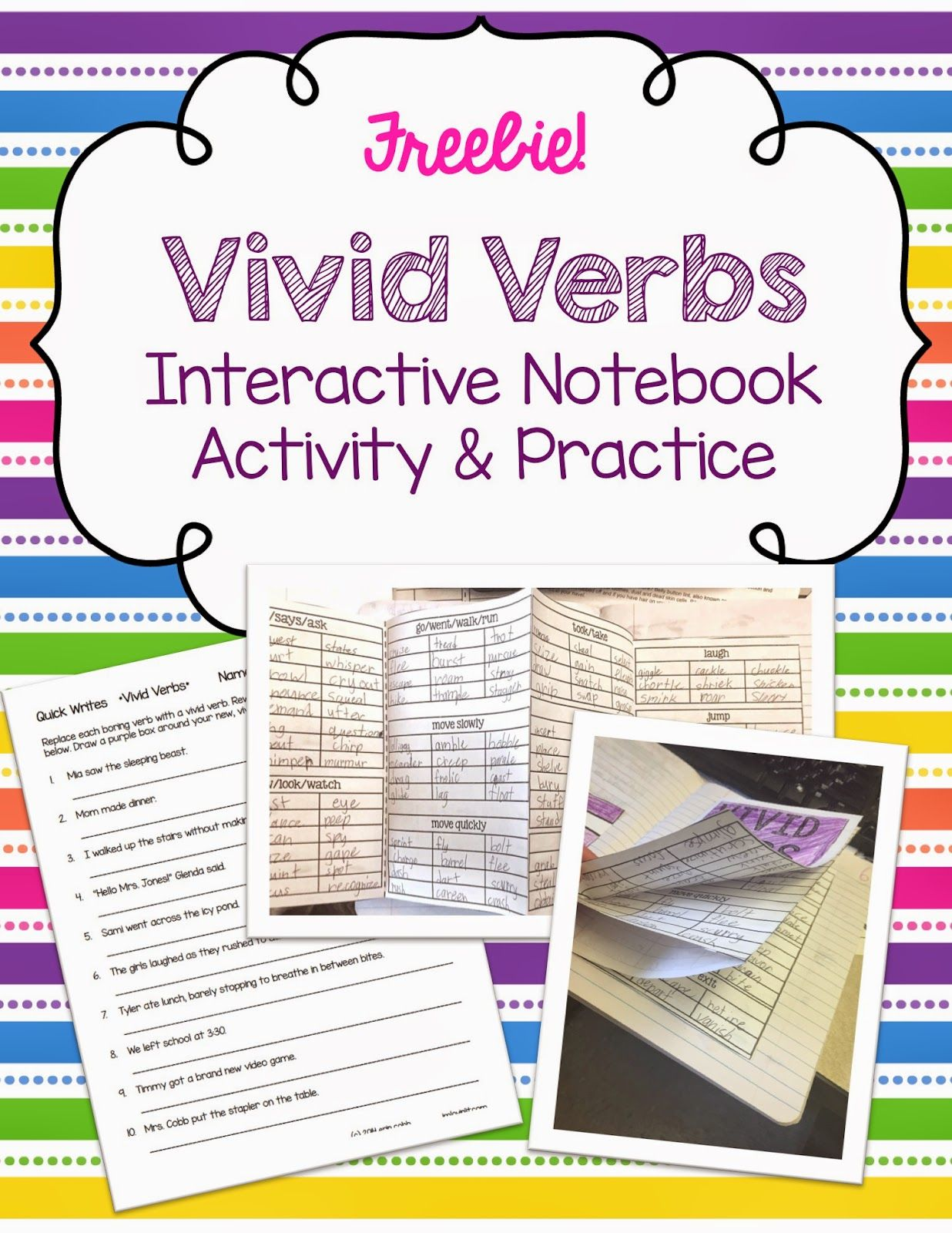 worksheet Vivid Verbs Worksheet 1000 images about verbs on pinterest anchor charts activities and linking verbs