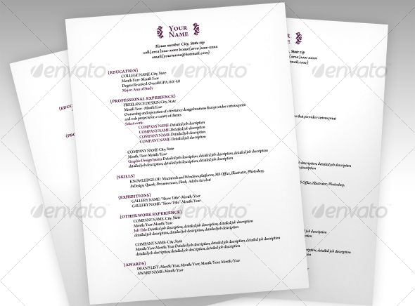 Clean And Elegant Resume Resume Design Template Human Logo Design Resume