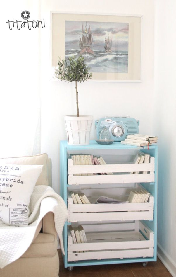 fun side table | DIY | Pinterest | Titatoni, Obstkisten und Regal