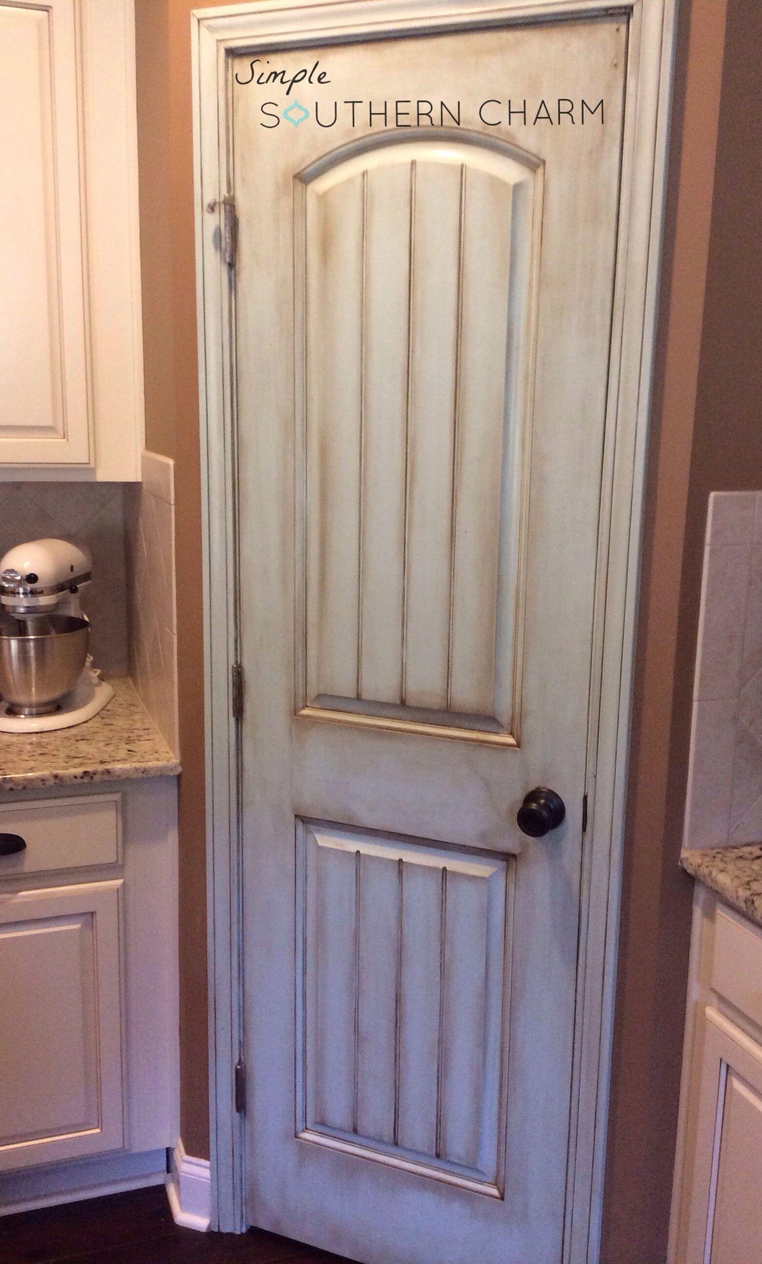 Aqua Pantry Door Update Simple Southern Charm Painted Pantry Doors Painted Pantry Sliding Pantry Doors