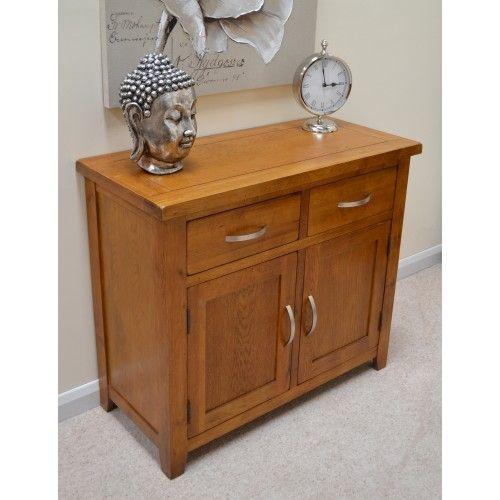Rustic Oak Small Sideboard / Cabinet / Storage Cupboard Http://www.sartra