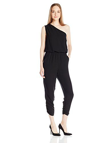6d570e2f538 eight sixty Womens Solid One Shoulder Jumpsuit Black Small   Click on the  image for additional details.