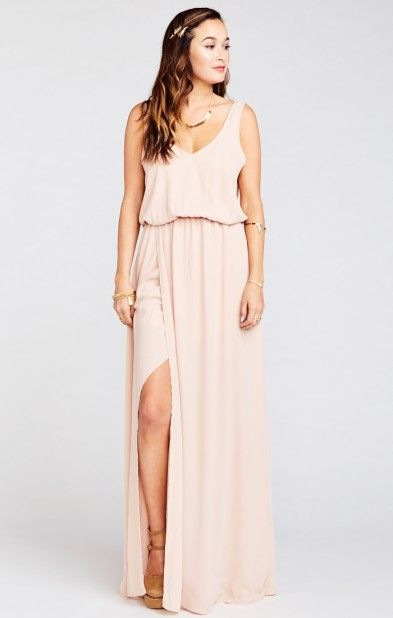 a4a0450d99f Kendall Maxi Dress ~ Dusty Blush Crisp
