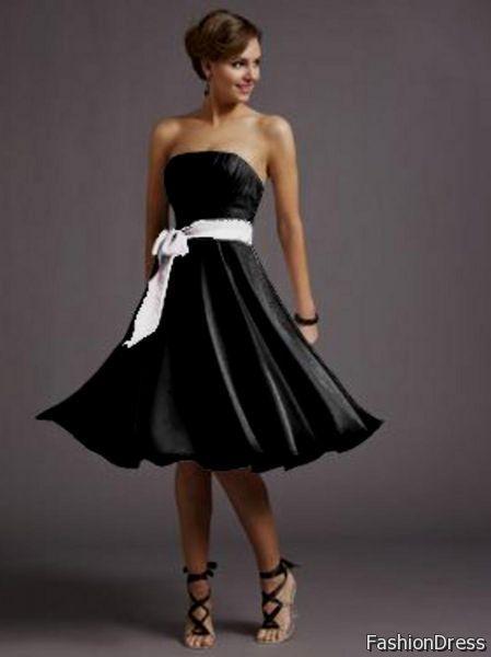 Nice Knee Length Black Formal Dresses For Juniors 2017 2018 Check
