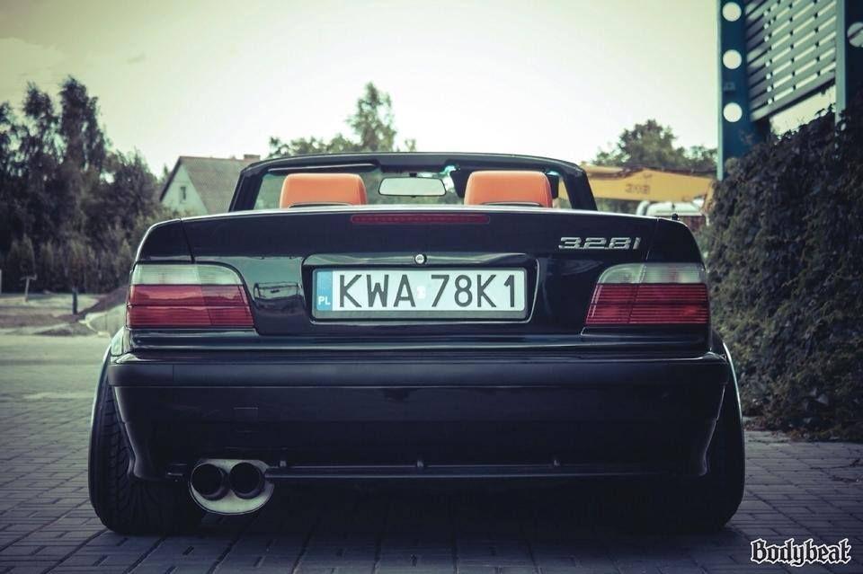 Bmw E36 3 Series Cabrio Black Stance With Images Bmw E30 Bmw