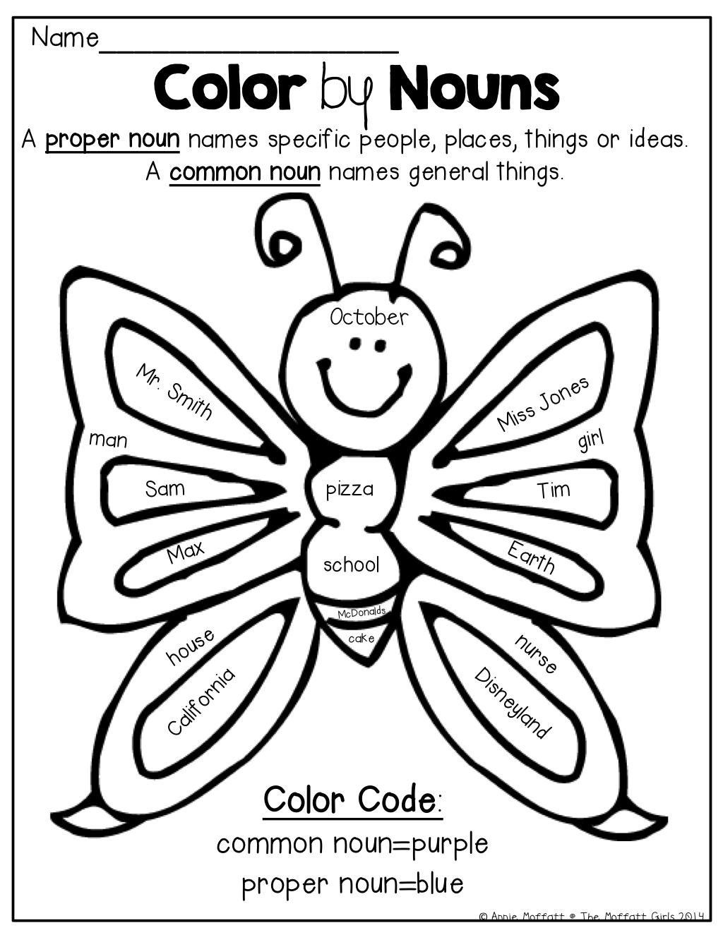 Spring Math And Literacy Packet No Prep 1st Grade Proper Nouns
