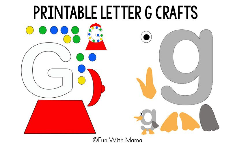 letter g cut out template  Printable Alphabet Letter Crafts | Letter a crafts, Letter g ...