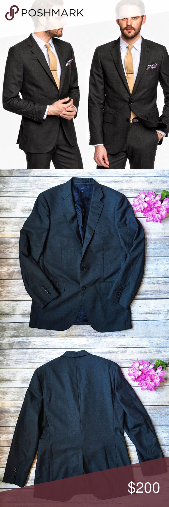 J. Crew Men's NWOT Aldridge Jacket Size 38R 💙 ★ Like new condition. 💕 ★ This incredible men's Italian wool Aldridge jacket from J. Crew is an absolute must have! This jacket is SOLD OUT! In pristine condition, POCKETS STILL SEWN SHUT. Get it now! 😻 ★ Italian Wool. ★ NO TRADES! 🚫 ★ NO MODELING! 🚫 ★ YES REASONABLE OFFERS! ✅ ★ Measurements available by request and as soon as possible! 💁🏼 J. Crew Jackets & Coats