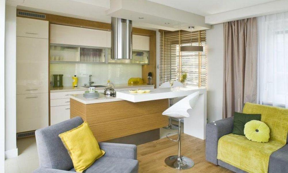 Kuchnia Z Salonem W Malym Mieszkaniu Szukaj W Google Modern Kitchen Small Kitchen Furniture