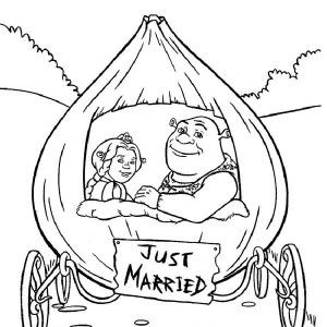 Shrek Shrek And Princess Fiona In Onion Carriage They Were Just