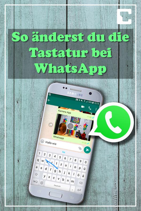 So änderst du die Tastatur bei WhatsApp