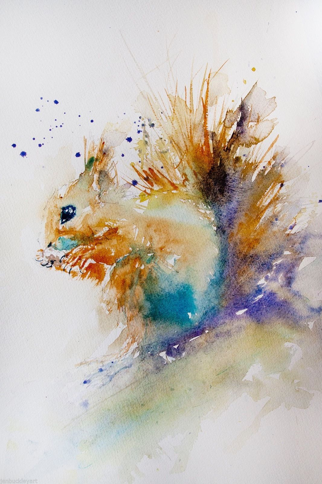 Squirrel By Jen Buckley Squirrel Art Abstract Animals
