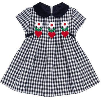 174b63a5f4c9 Twill Check Hearts   Flowers Dress