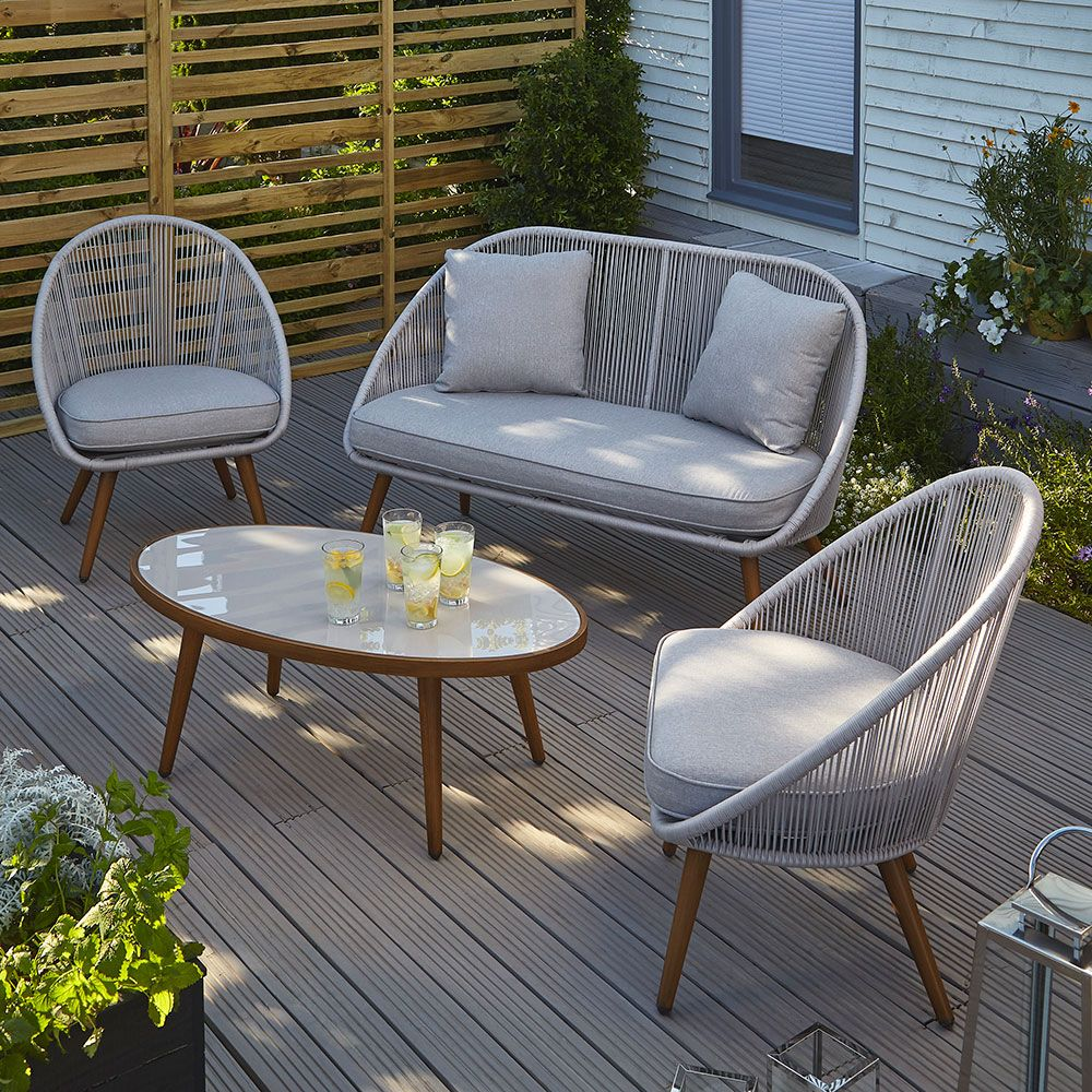 A new classy and colourful Asda garden furniture range has