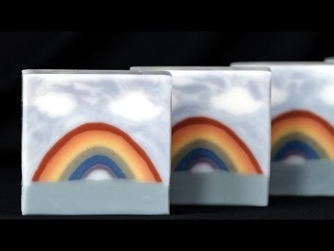 Rainbow Soap Sculpted Layers - Cold Process Homemade