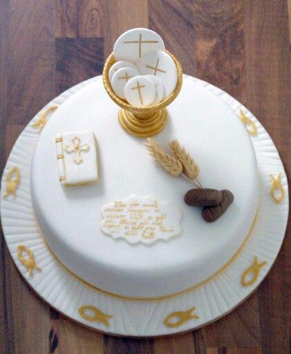 Kommunion Torte Cake Design By Back Bienchen Pinteres