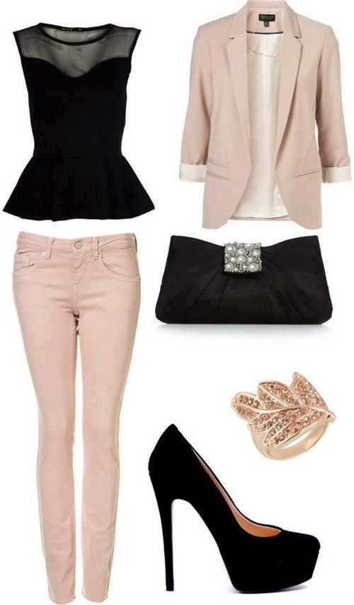 251d8f1562e blazer fashion (17). Outfits with Pale Pink Blazers- 19 Ways to Wear ...