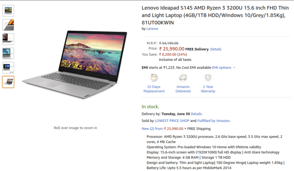 Lenovo Ideapad S145 81ut00kwin Price Specs Features Tech Stories India Lenovo Ideapad Lenovo Card Reader