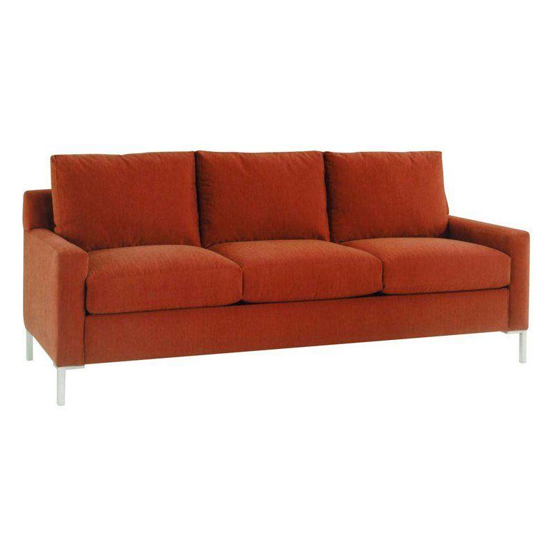 Lazar Soho Prosuede Paprika Fabric Sofa $1815.21