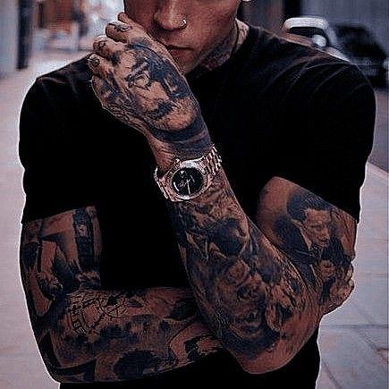 pinleonardo on tumblr in 2020  tatted men badass
