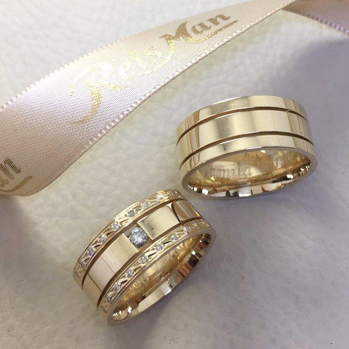 Alianças Trieto Reisman. Em ouro 18k e diamantes. Disponível em www.reisman.com.br  Alianças da Juju Salimeni e Felipe Franco 81c1a0ddc2