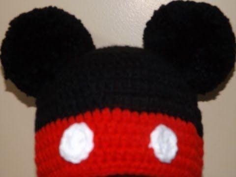 Crochet Gorrito Mikey Mouse - YouTube | bebê : receitas e vídeo em ...