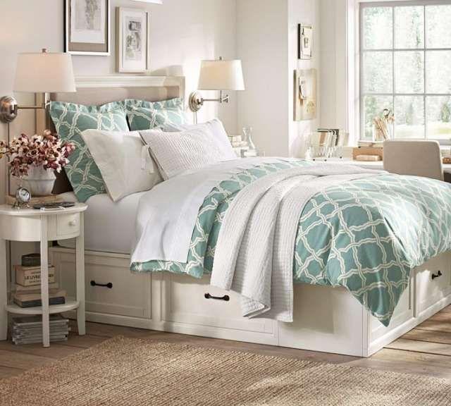 Cama de dos plazas con cajones y respaldo | Bedroom | Pinterest ...