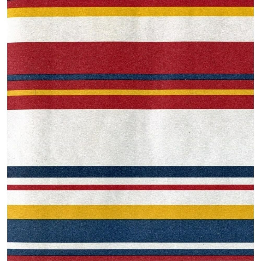 Dundee Deco Falkirk Brin Red, White, Blue, Yellow Stripes