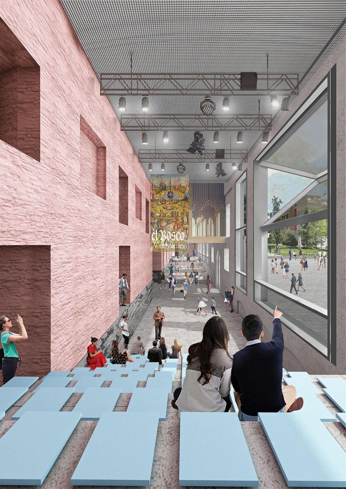 Oma . Museo Del Prado Extension Madrid 19 Rem Koolhaas Representa Grafica