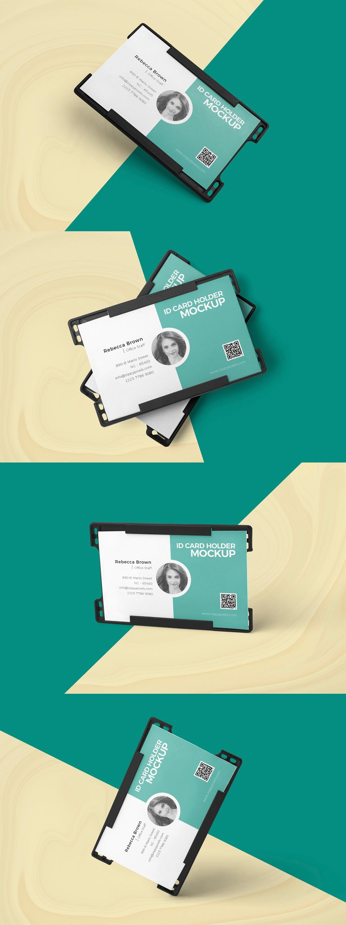 Id Card Holder Mockups Visiting Card Design Stationery Templates Visiting Cards
