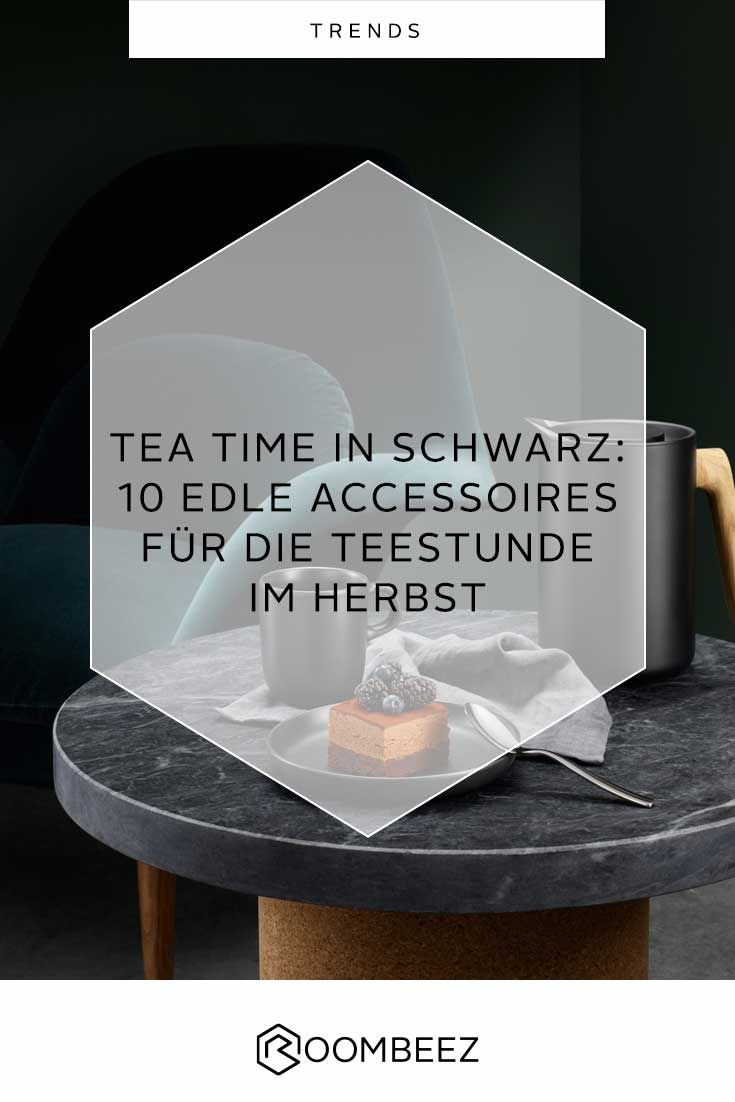 Tea Time In Schwarz Teegeschirr In Trendfarben Roombeez Otto
