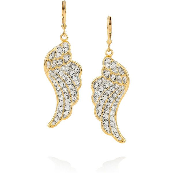 Kenneth Jay Lane Gold Crystal Nugget Clip Earrings Gold oyeeb8ki