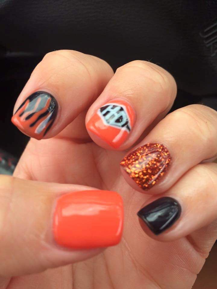 Harley Davidson Nails Sassy Nails Nails Toe Nails