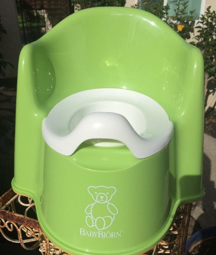 Baby Bjorn Green Potty Portable Plastic Toilet Training Chair Gender Neutral Baby Bjorn Potty Toilet Training