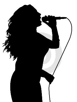Singer Png 263 350 Human Silhouette Singer Human