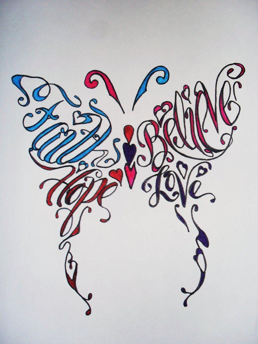 love Faith hebrew hope