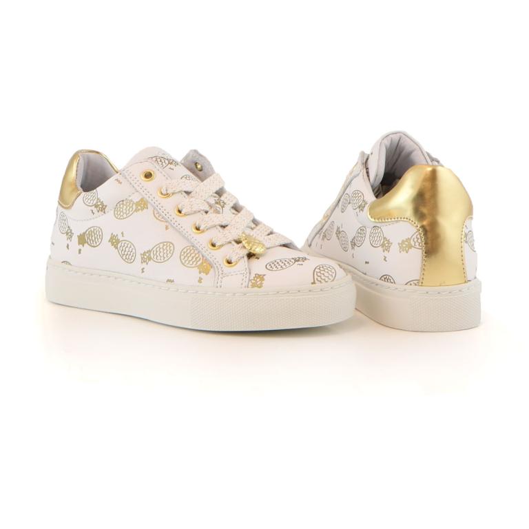 Schoenen Kinderschoenen.Giga Sneaker White Gold Ananas Giga Meisjesschoenen