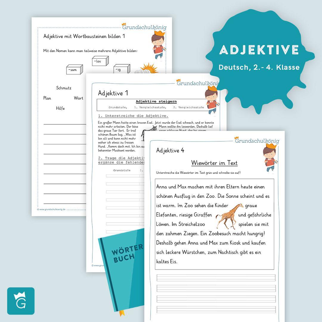 Ganze 20 kostenlose Arbeitsblätter zu Adjektiven Wiewörter für ...