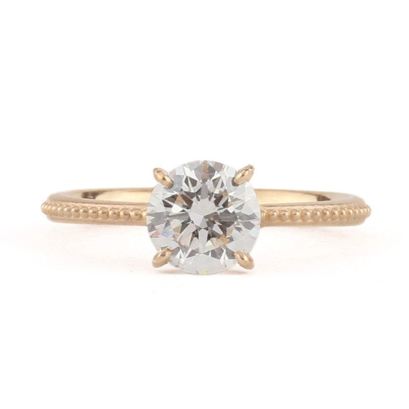 Clover Crown Jubilee Round Solitaire Ring Products
