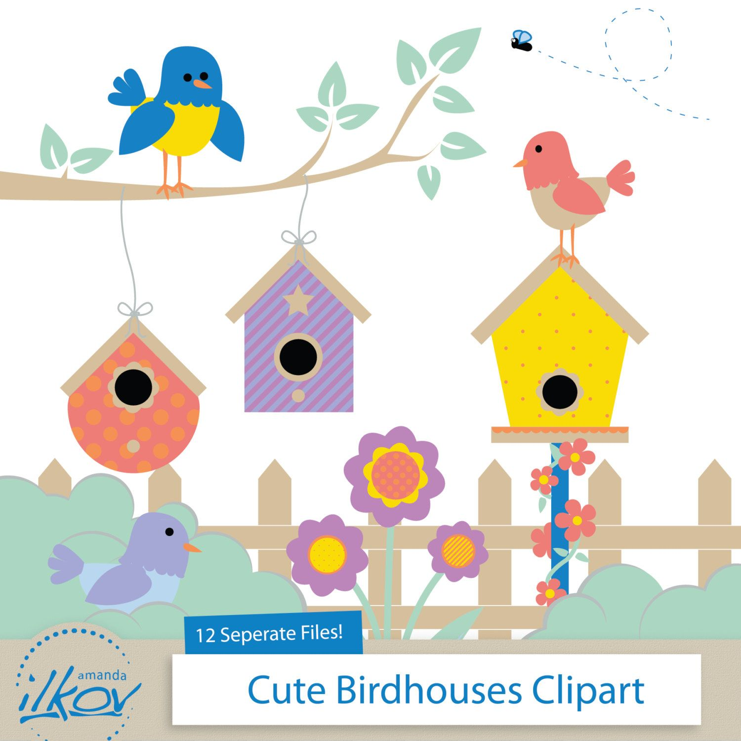 Baby Girl Bird House Owl Themed 3 Piece Set