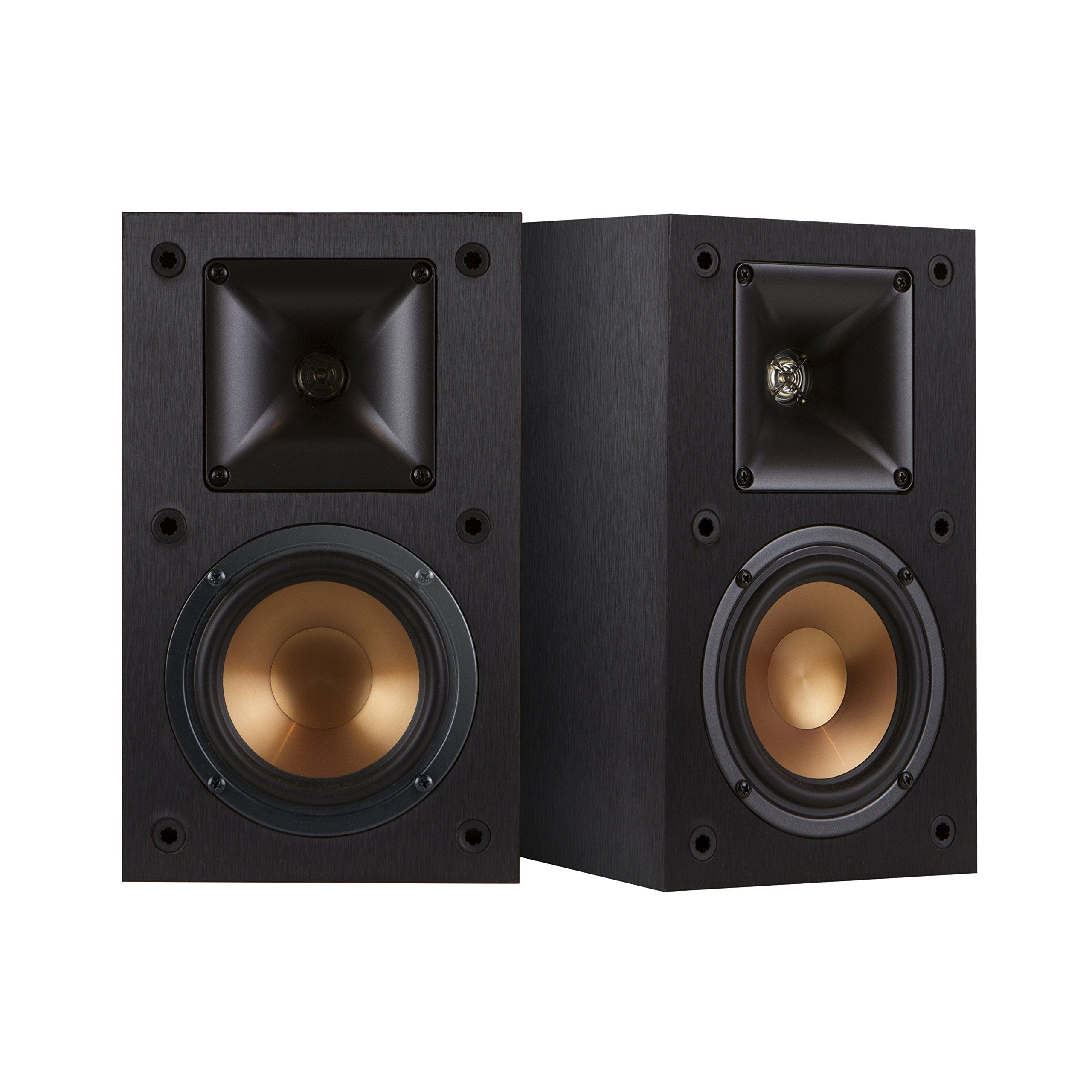 Klipsch R 14M 4 Inch Reference Bookshelf Speakers Pair Black