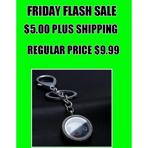 Flash sale Friday Floating Locket keychain
