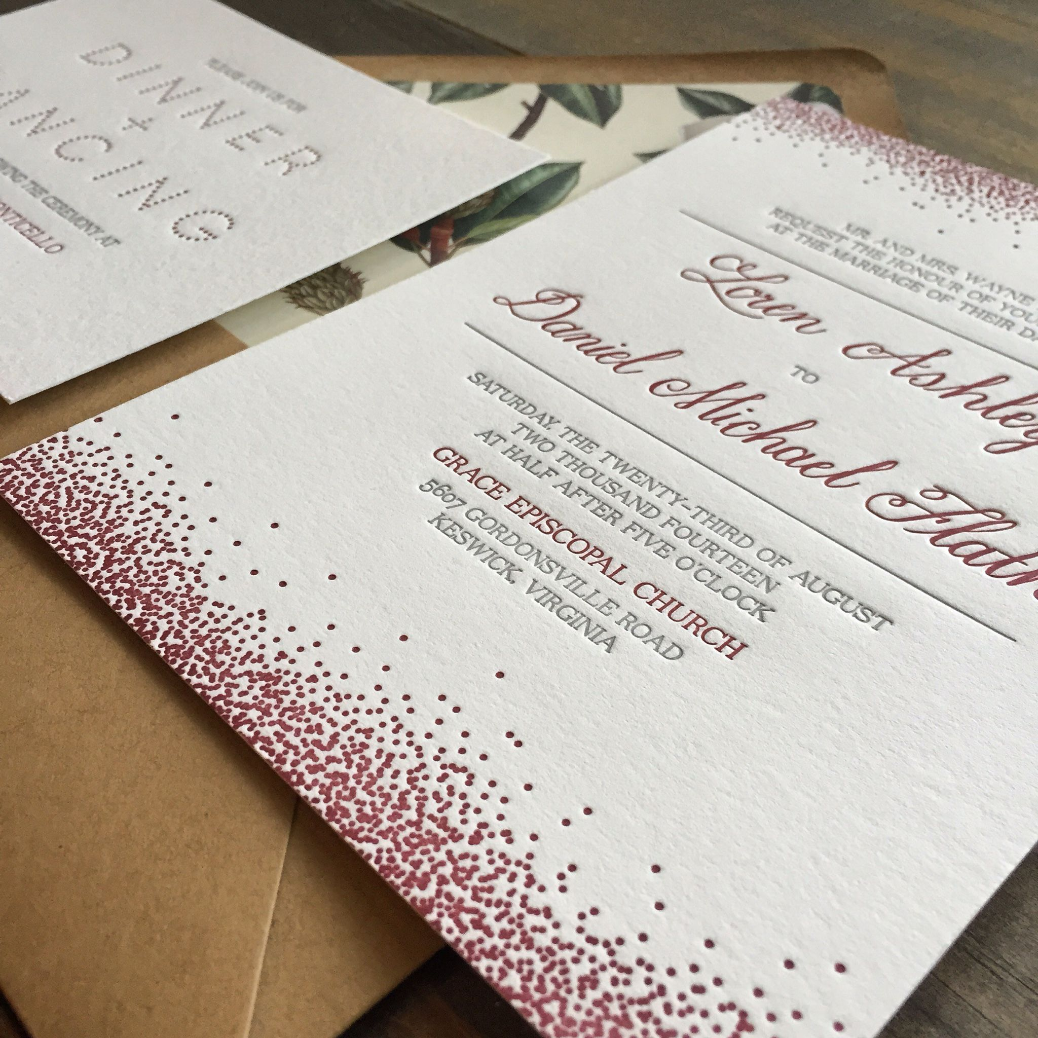 www darlingandpearl com letterpress wedding invitations virginia