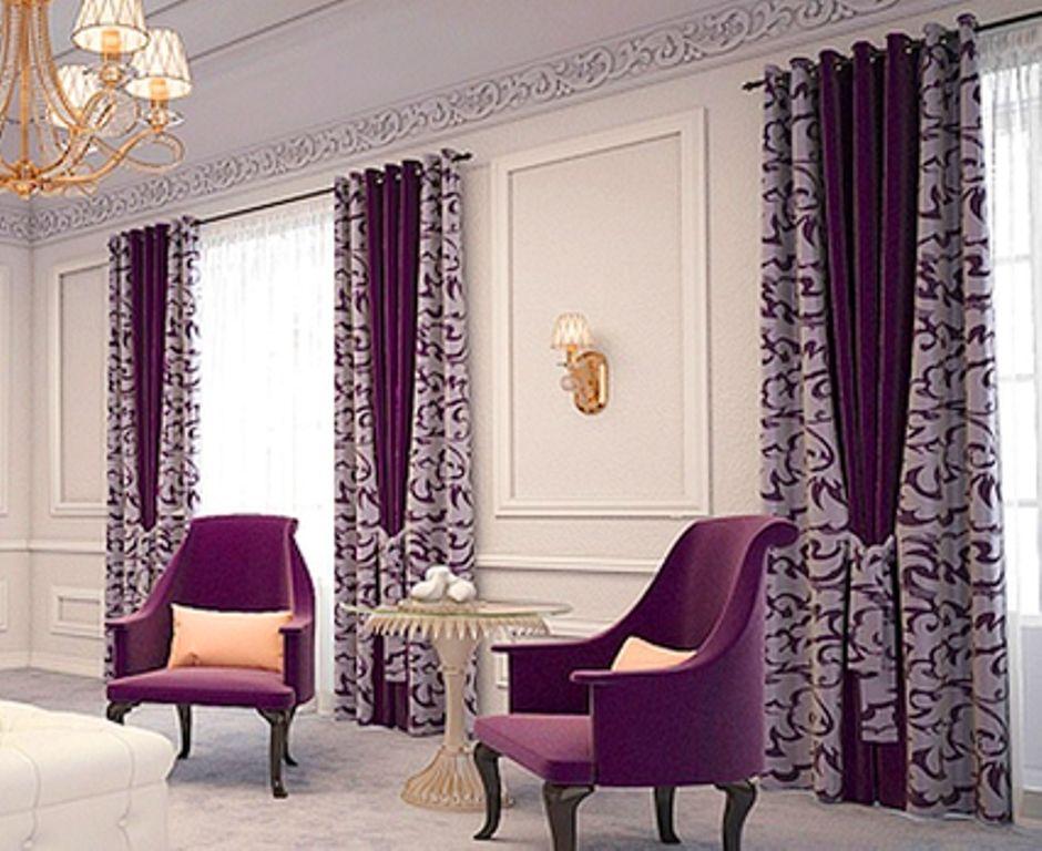 Schiebe-Gardine fürs Wohnzimmer in braun und beige mit - gardinen modern wohnzimmer braun